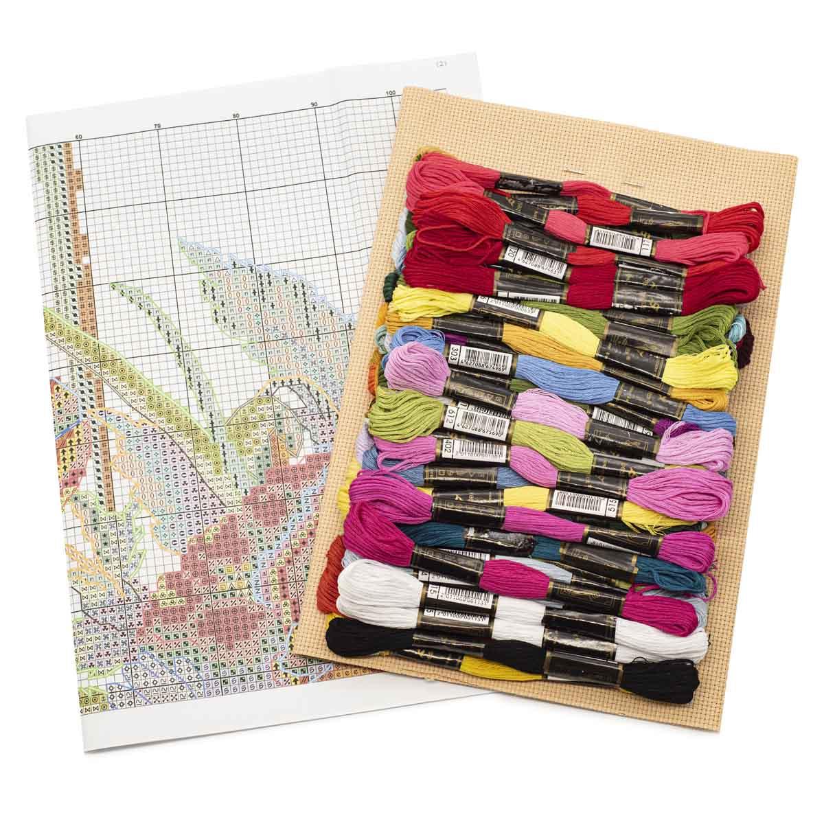 """Набор для вышивания 788 """"Ромашки с маками"""", 43х37 см, Hobby&Pro"""