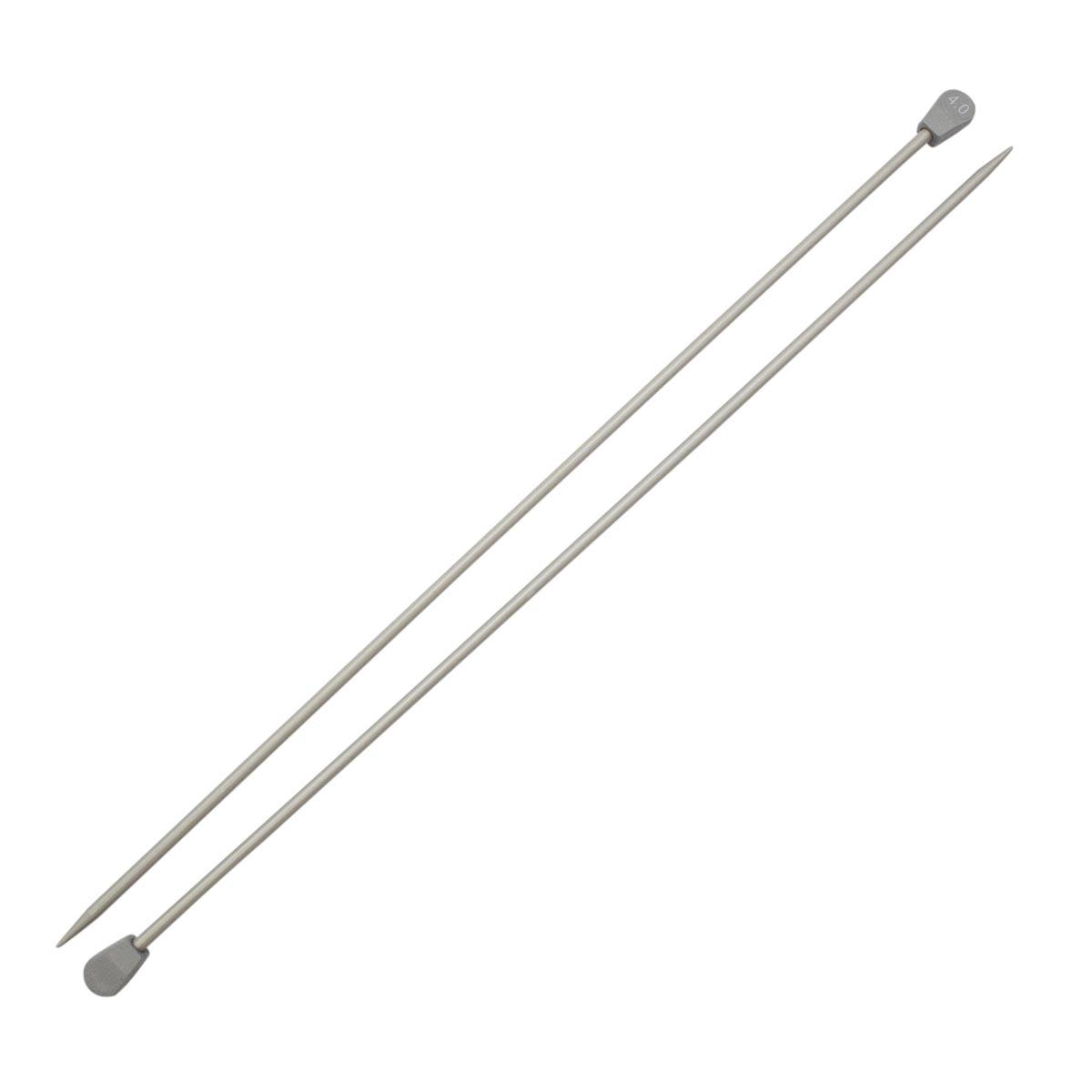 Спицы прямые алюминиевые с покрытием 940240/940204, 35 см, 4,0 мм, Hobby&Pro