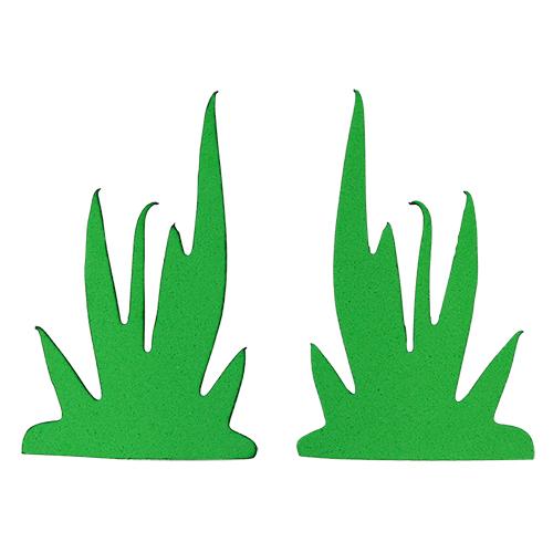 фом11-1-1 Заготовка из фоамирана 'Трава', высота 5 см, 5видов по 5шт, зелёный