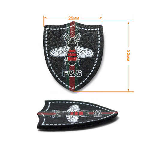 ГЖ1457 Нашивка 32*29мм, черный+лого