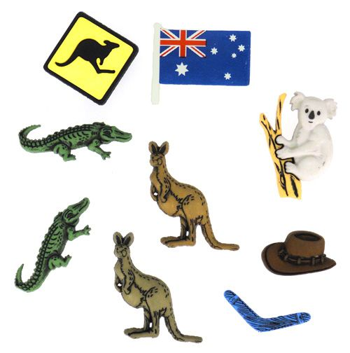 3983, Пуговицы-фигурки. Австралия Dress It Up