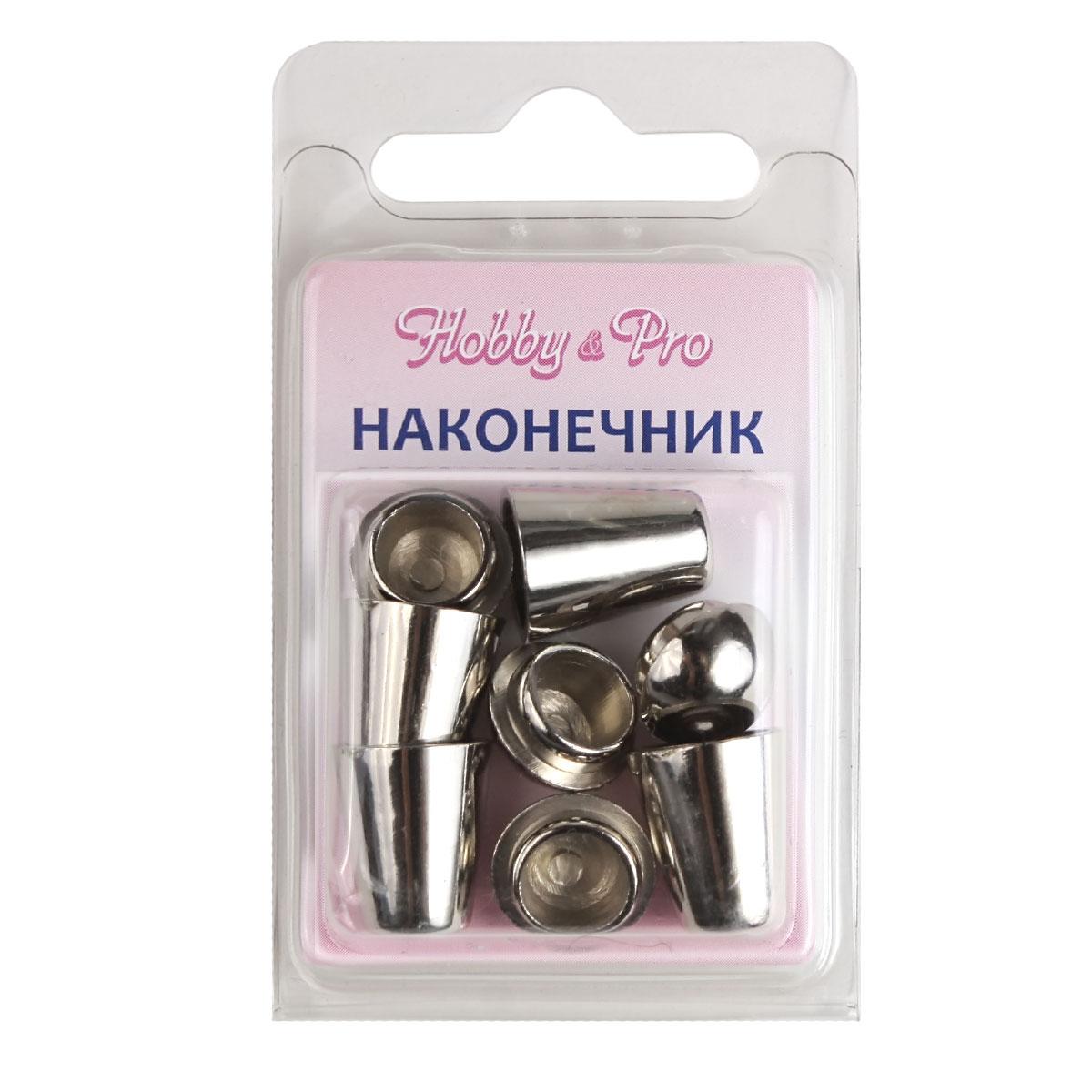0305-3256 Наконечник 'Колокол' d=5/9,5мм, 20*12мм, 4шт, пластик под металл Hobby&Pro