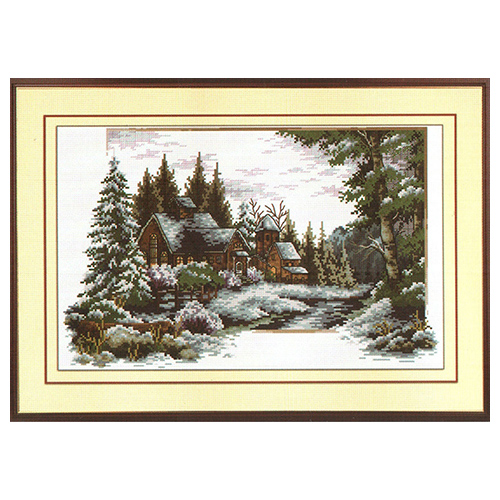 S-008 Набор для вышивания Hobby&Pro 'Зима', 40*25 см