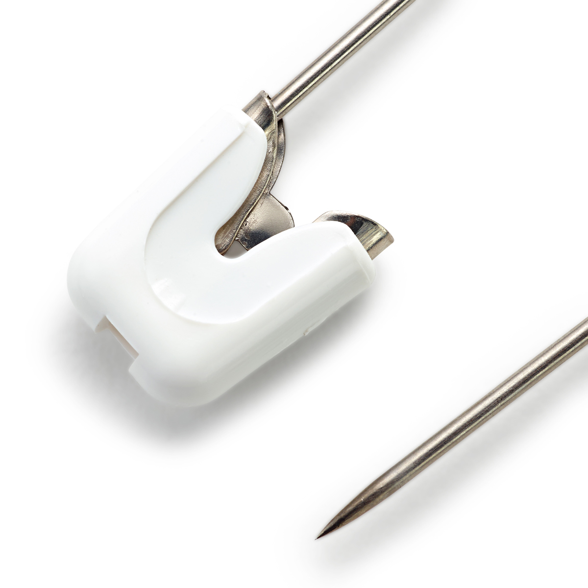 086103 Детские безопасные булавки (сталь) белый цв. 55 мм Prym
