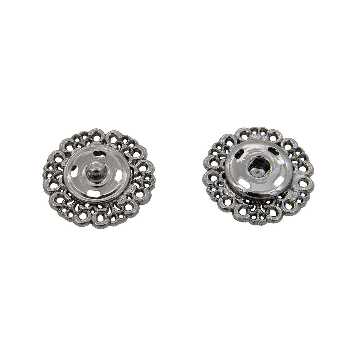 ГЖ2722 Кнопка пришивная, черный никель, 23 мм, упак./3 шт., Hobby&Pro