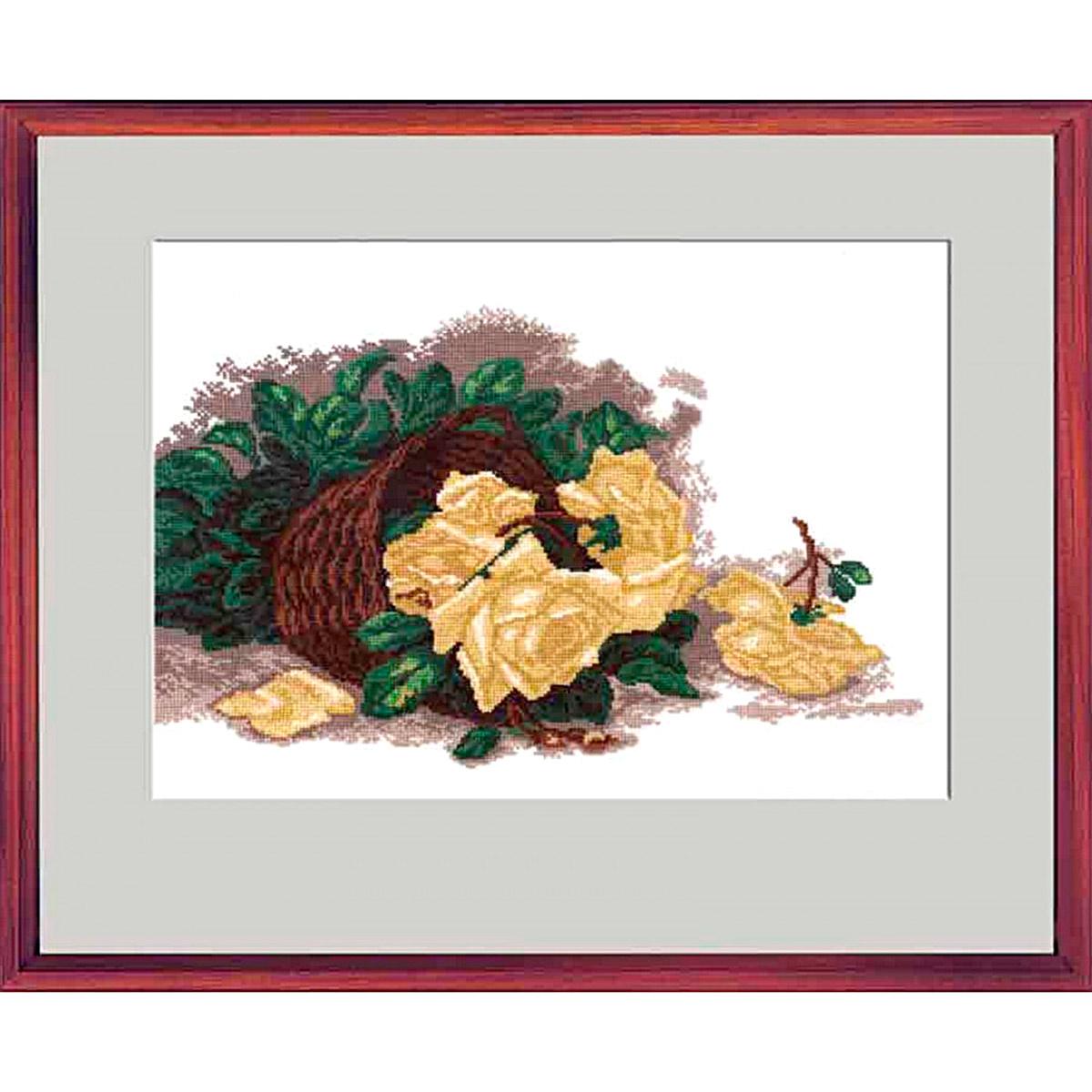 """Набор для вышивания 621 """"Розы в корзинке"""", 23х38 см, Hobby&Pro"""