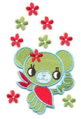 AD1167 Термоаппликация 'Мишка с цветами (клеевая основа)', 6*5 см, Hobby&Pro