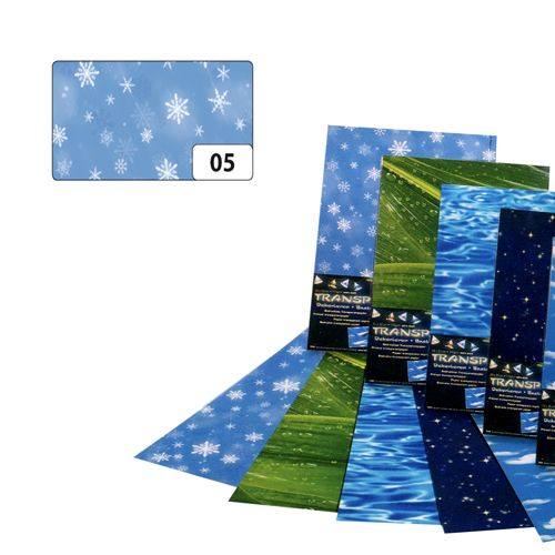 83105 Транспарентная бумага 'Снежинки', 115 г/м², 50,5*70 см, Folia
