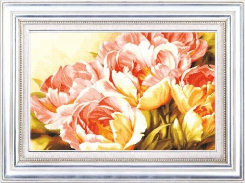 S-029 Набор для вышивания Hobby&Pro 'Махровые тюльпаны', 58*37 см