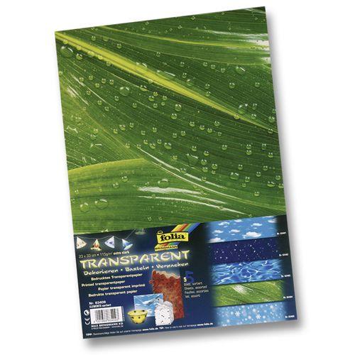 83409 Транспарентная бумага 'Элементы природы', 115 г/м², 23*33 см, упак./5 листов, Folia