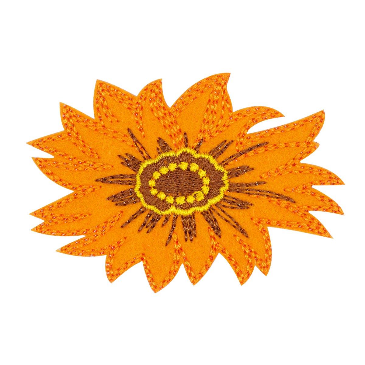"""Термоаппликация """"Оранжевый цветок"""", d=7см, BA1039, Hobby&Pro"""