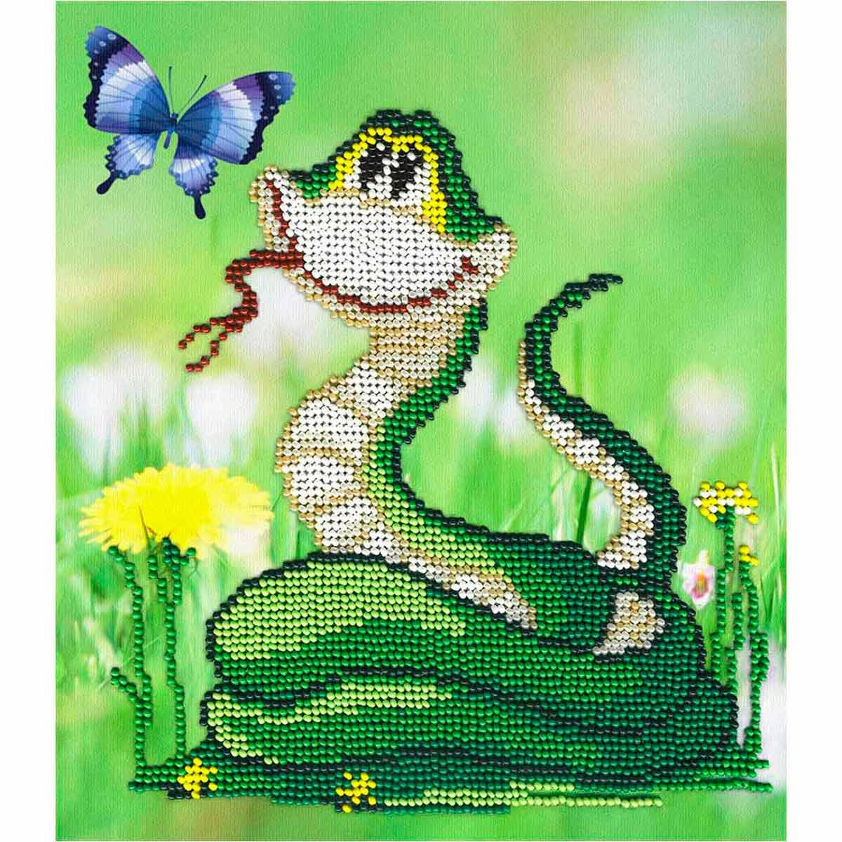 БГ-169 Набор для вышивания МП Студия 'Змейка с одуванчиком' 20х18 см