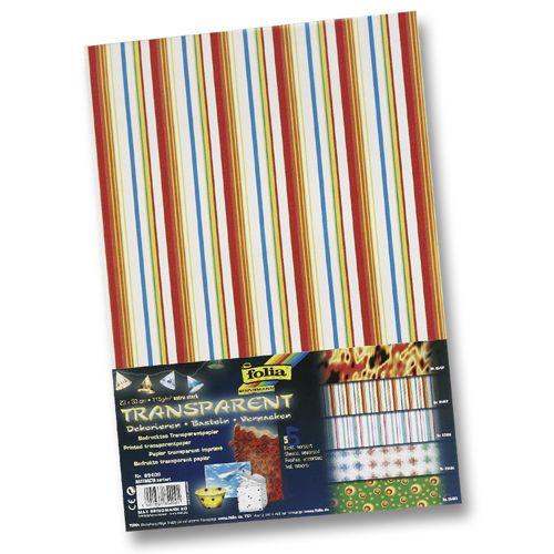 85409 Транспарентная бумага 'Абстракция', 115 г/м², 23*33 см, упак./5 листов, Folia