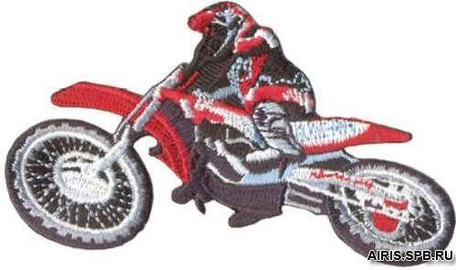 AD1179 Термоаппликация 'Мотоциклист', 5*9 см, Hobby&Pro