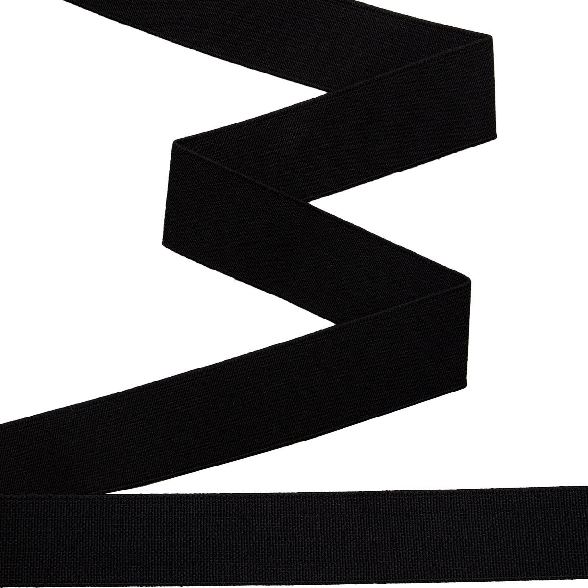 955301 Прочная эластичная лента 30 мм черный цв. *10м. Prym