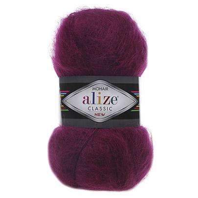 """Пряжа  ALIZE """"Mohair classik new"""" 200м./100г. розовый мохер 25%; шерсть 24%; акрил 51%"""