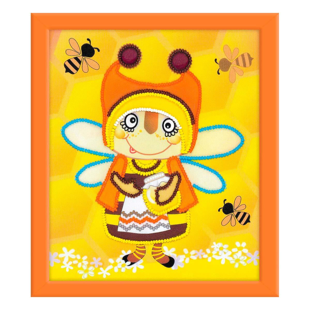 РТ-0055 Частичная вышивка Риолис 'Бабушка Пчела' 15*18см