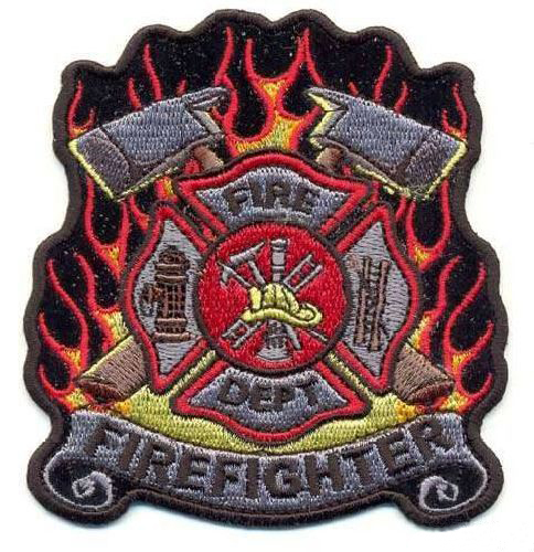 AD1186 Термоаппликация Firefighter (пожарное дело), 9*9 см, Hobby&Pro