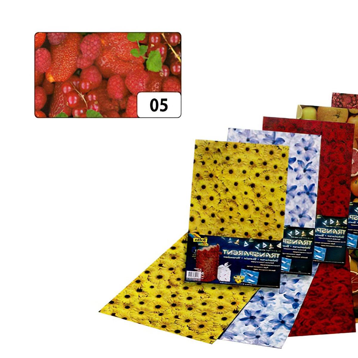 86105 Транспарентная бумага 'Ягоды', 115 г/м², 50,5*70 см, Folia