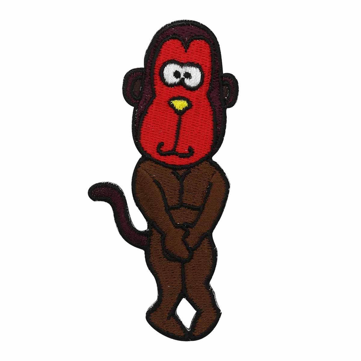 """Термоаппликация AD1187 """"Застенчивая обезьяна"""", Hobby&Pro"""