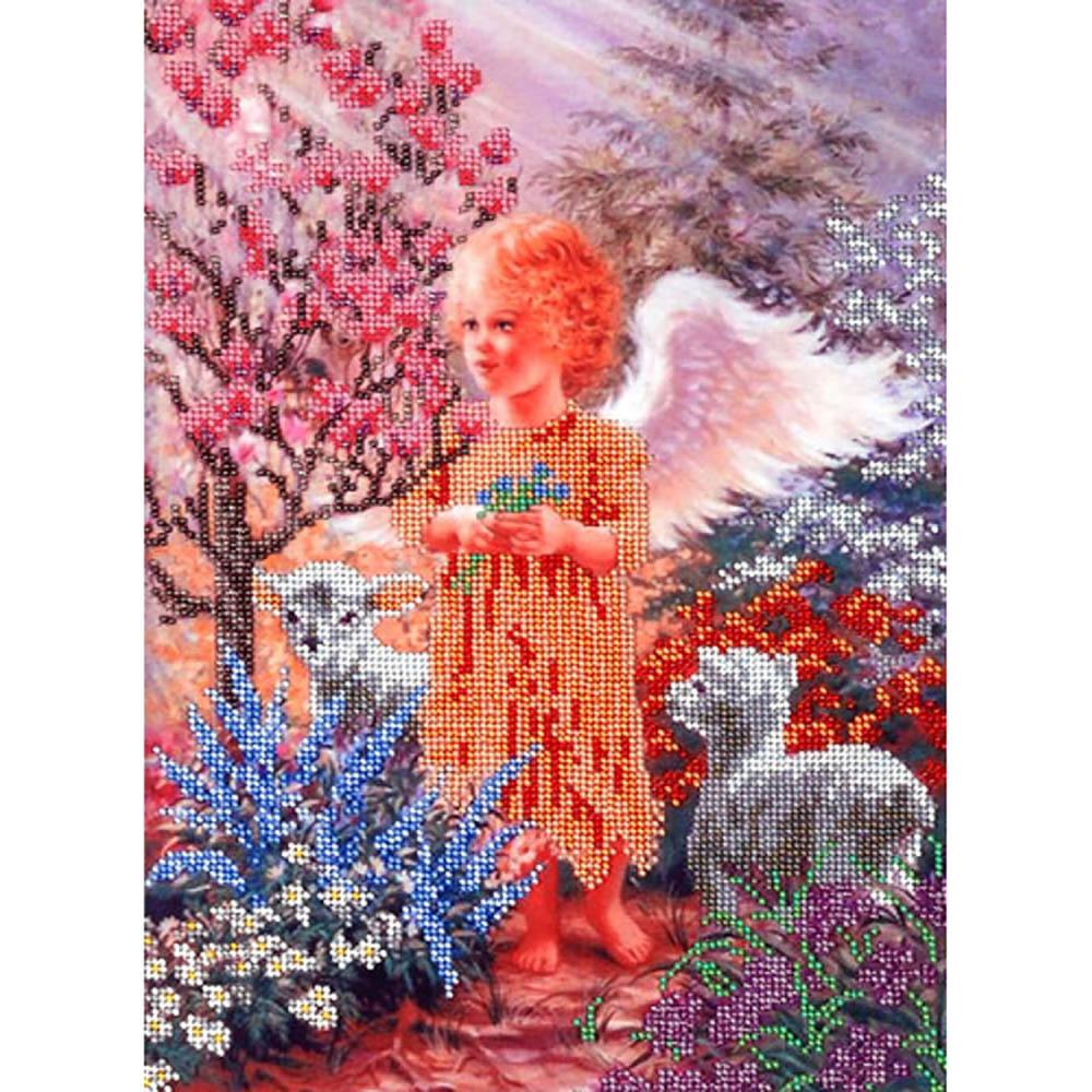 """Набор для вышивания бисером БН-3036 """"В райском саду"""", 35х25 см, Hobby&Pro"""