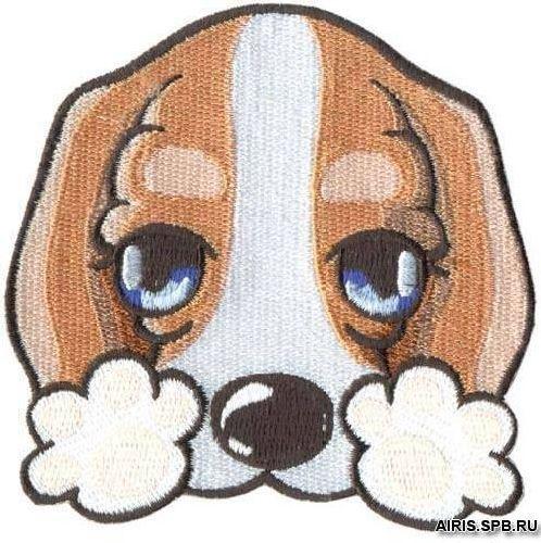 Термоаппликация AD1189 Печальный щенок Hobby&Pro