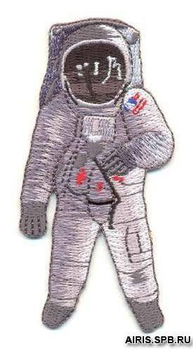 AD1190 Термоаппликация 'Космонавт', 9*4 см, Hobby&Pro