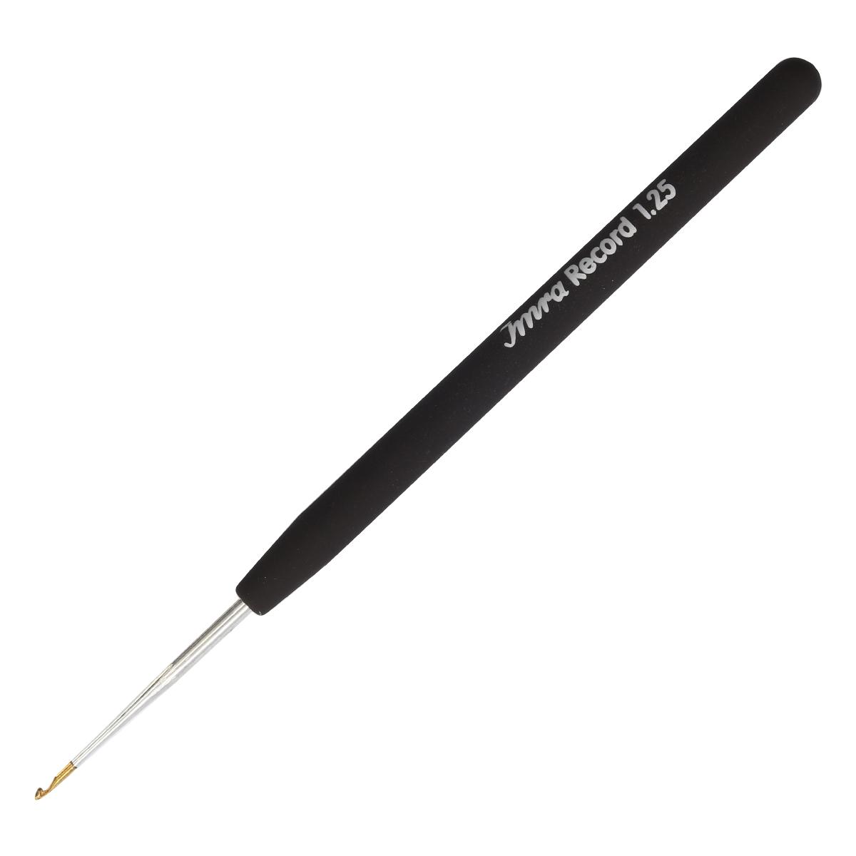 175622 Крючок IMRA Record для тонкой пряжи, мягкая ручка, сталь, 1,25 мм, Prym