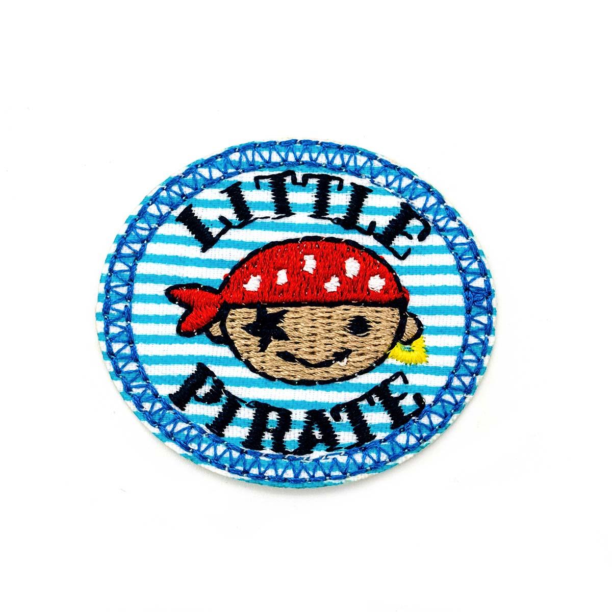 """Термоаппликация """"Маленький пират"""", d=3,6см, BA1033, Hobby&Pro"""