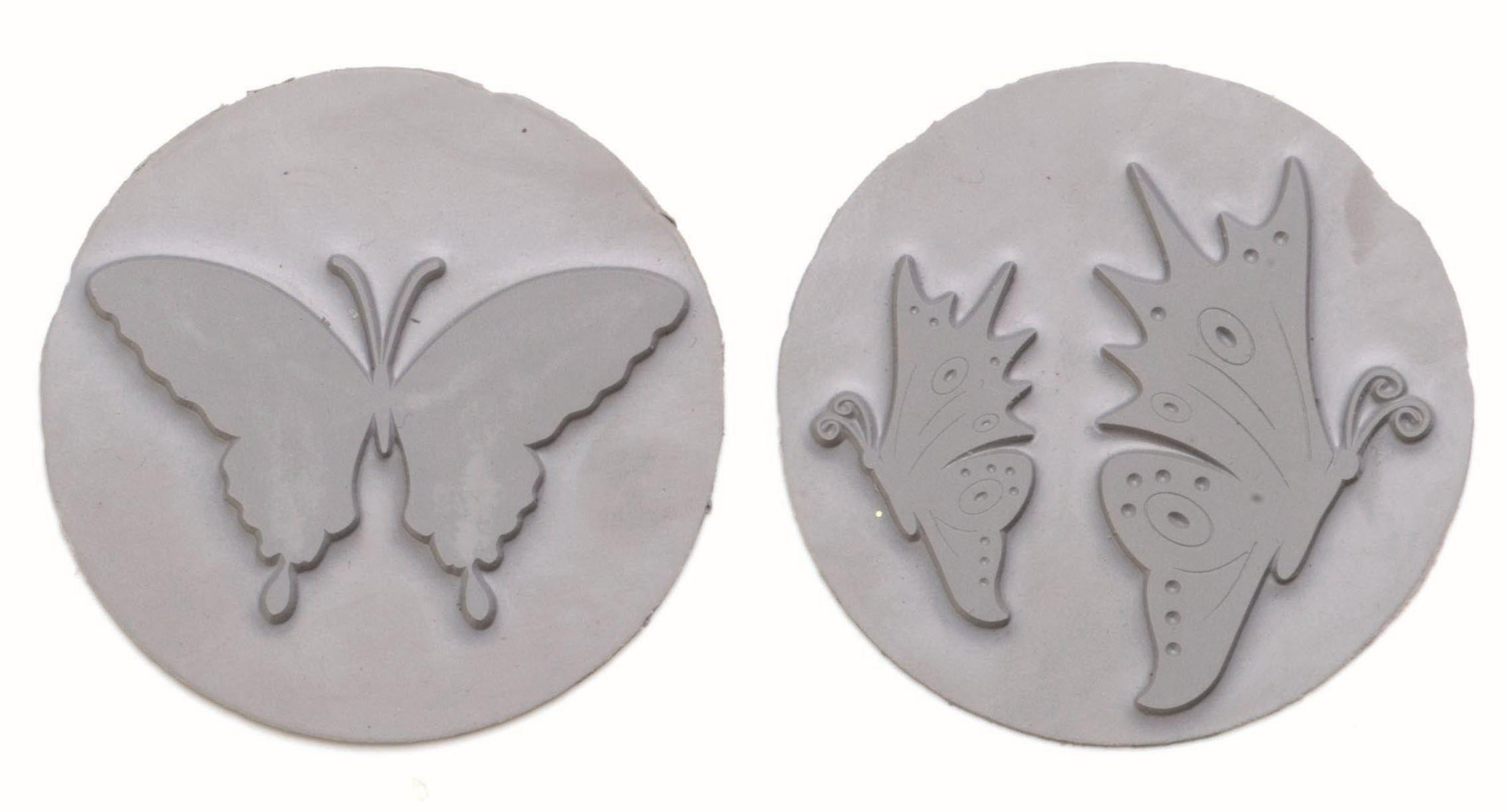 61600438 Вкладыш в круглую форму для мыловарения,бабочки,2шт. Glorex