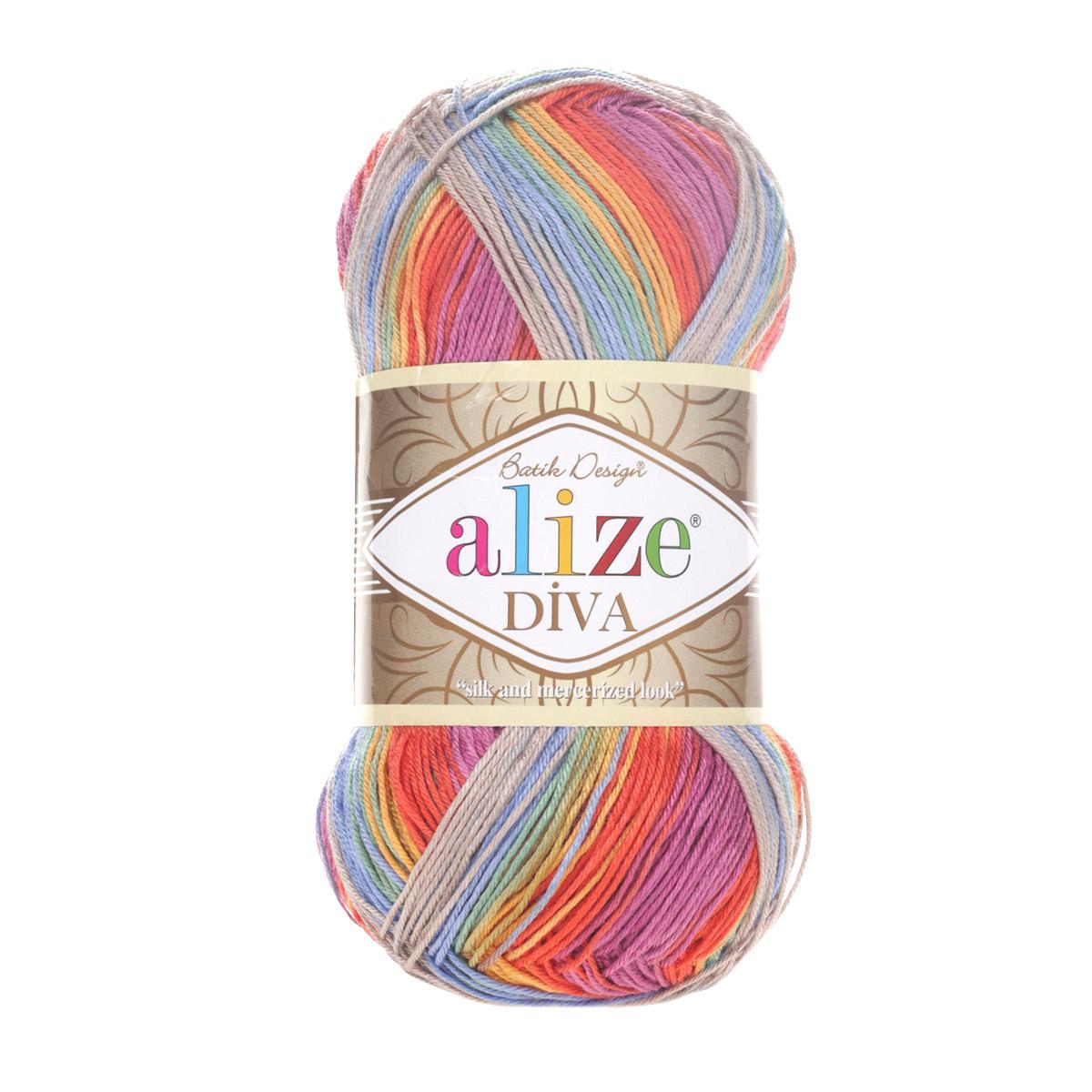 Пряжа ALIZE 'Diva batik' 100гр. 350м. (100% микрофибра) ТУ