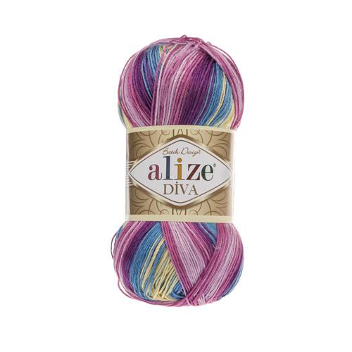 Пряжа  ALIZE Diva batik design 350м./100г. Микофибра 100%