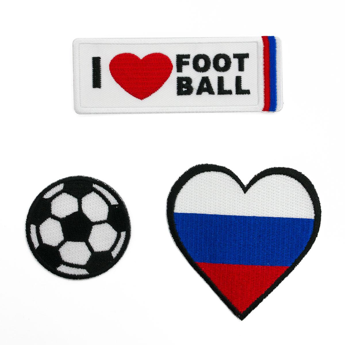Набор термоаппликаций 'Я люблю футбол'