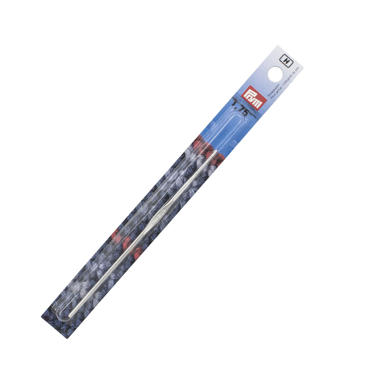 175841 Крючок IMRA для тонкой пряжи без ручки, сталь, с направляющей площадью, 1,75 мм, Prym