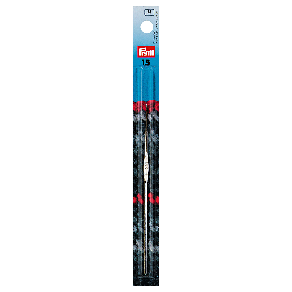 175843 Крючок IMRA для тонкой пряжи без ручки, сталь, с направляющей площадью, 1,5 мм, Prym