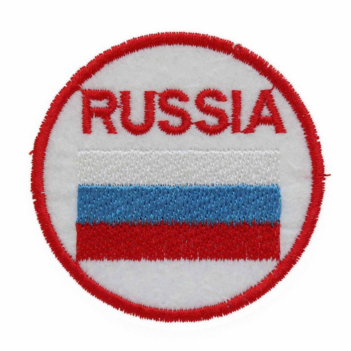 "Термоаппликация LM-80374 ""Russia"" 1 шт., Hobby&Pro"