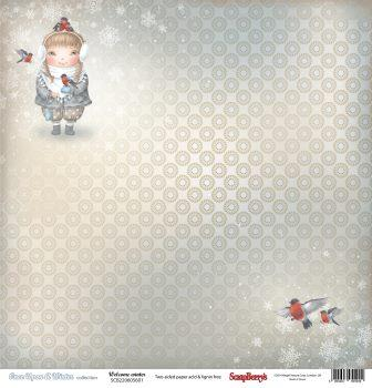 SCB220605601 Бумага для скрапбукинга двуст. Однажды Зимой Зима Пришла, 30,5х30,5см 180 гр/м 10шт*уп