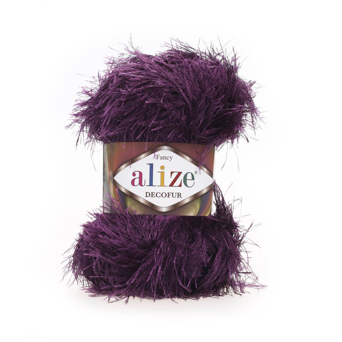 """Пряжа  ALIZE """"Decofur"""" 120м./100г. белый полиэстер 100%"""