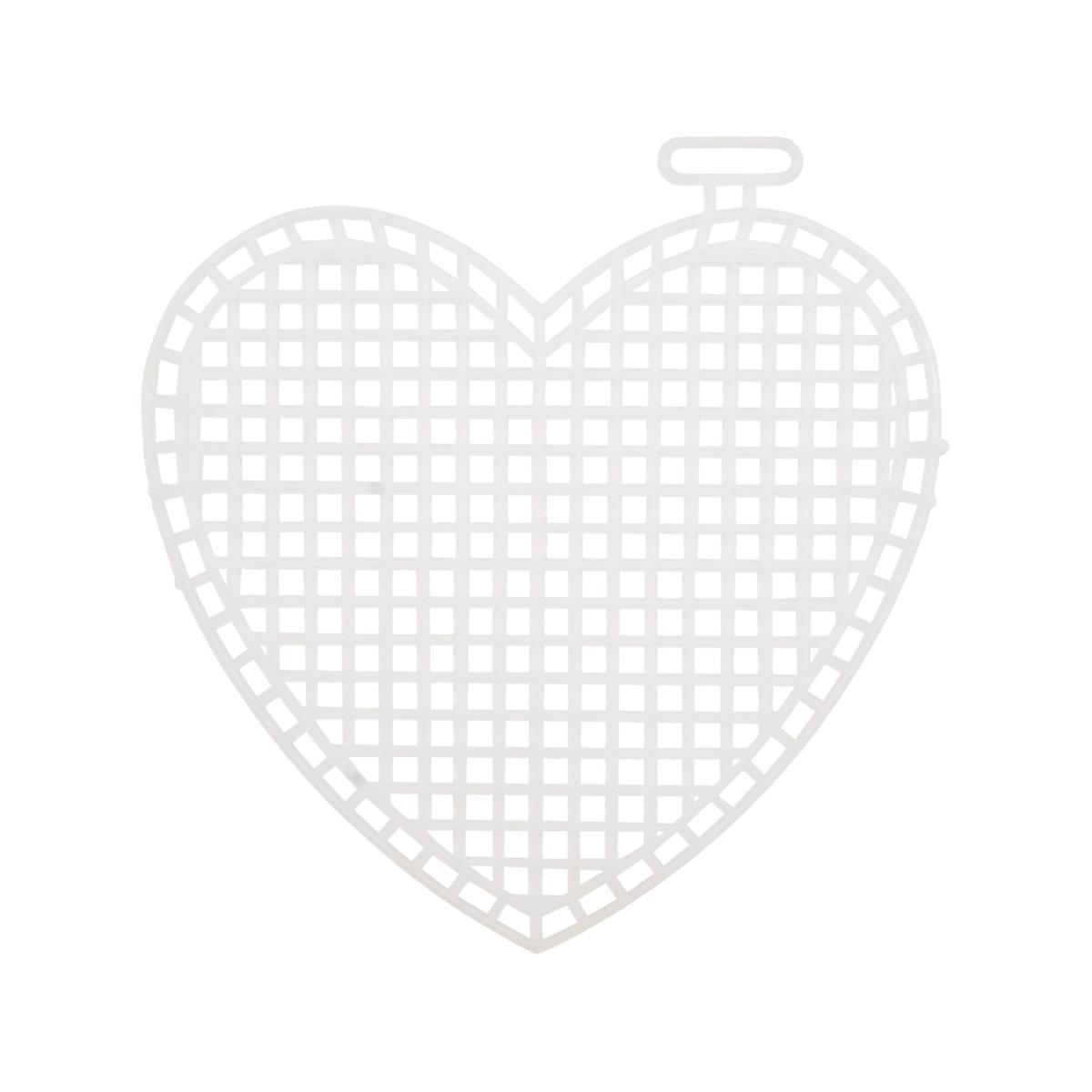 Канва пластикик, мал. 'Сердце', 7*8 см, Bestex