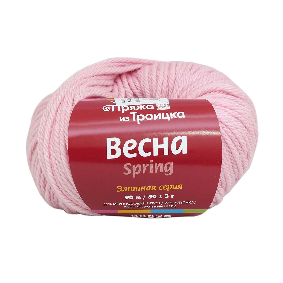 Пряжа из Троицка 'Весна' 50гр. 90м (50% мериносовая шерсть, 25% альпака, 25% натуральный шёлк)