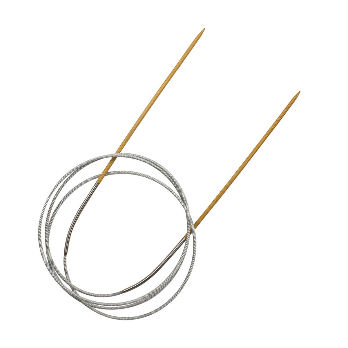 942720 Спицы круговые бамбук с метал.тросиком 100см, 2,0мм Hobby&Pro