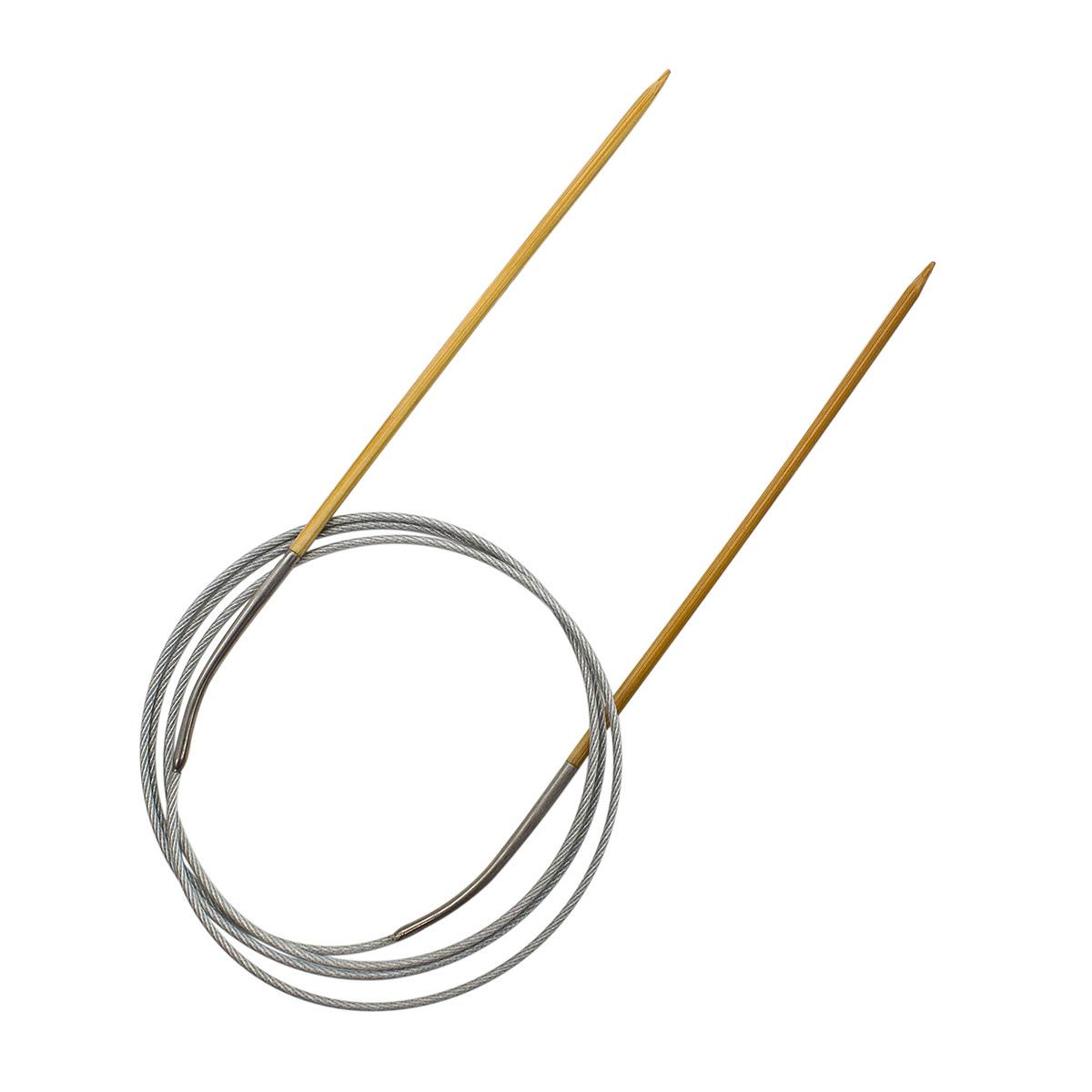 Спицы круговые бамбук с металлическим тросиком 942725, 100 см, 2,5 мм, Hobby&Pro