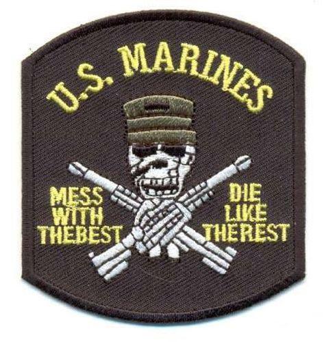 AD1224 Термоаппликация U.S. Marines, 5*9 см, Hobby&Pro