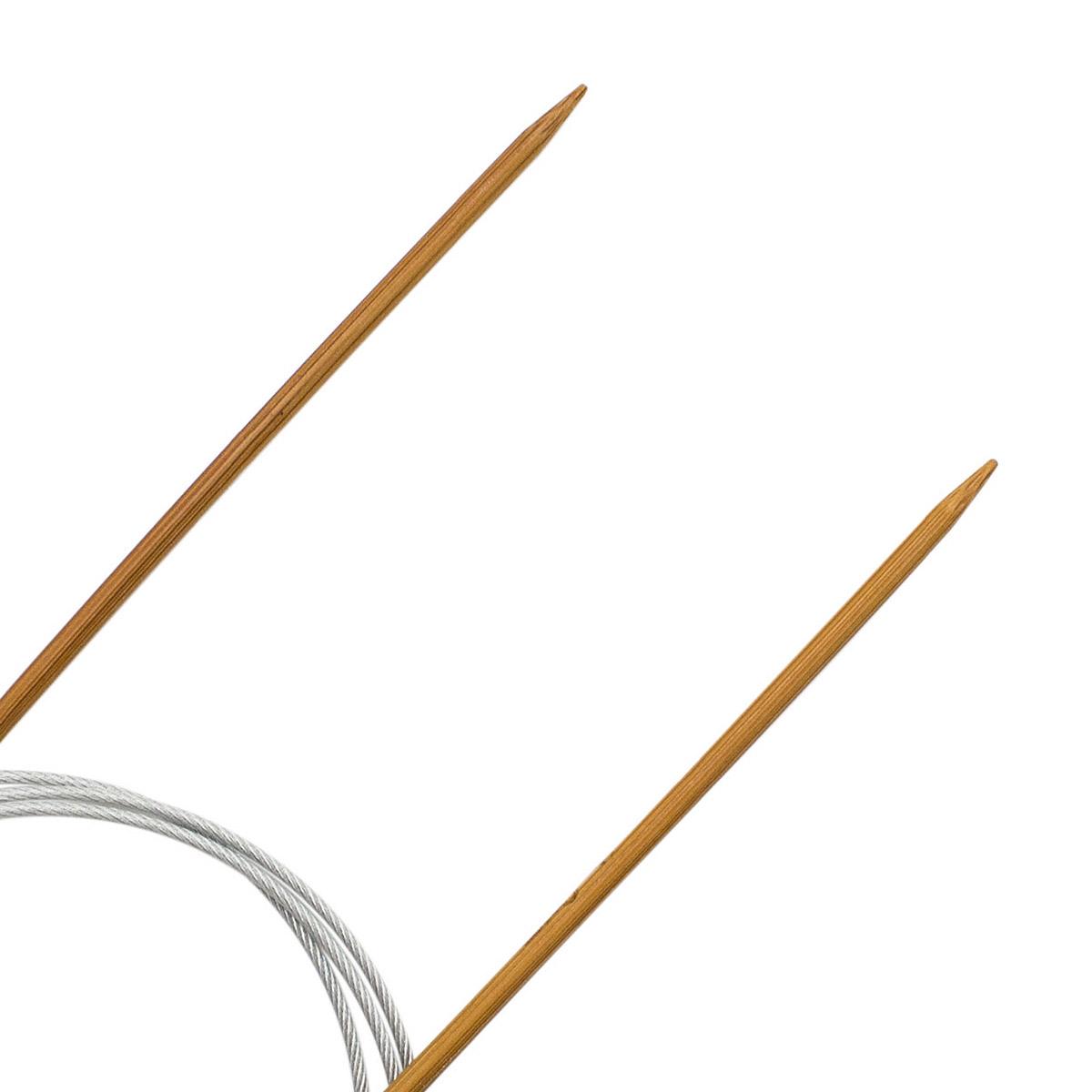 Спицы круговые бамбук с металлическим тросиком 942730, 100 см, 3,0 мм, Hobby&Pro