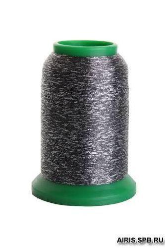Нитки Isamet 40 fashion silver металлизированная нить (45% полиамид, 55% полиэстер)