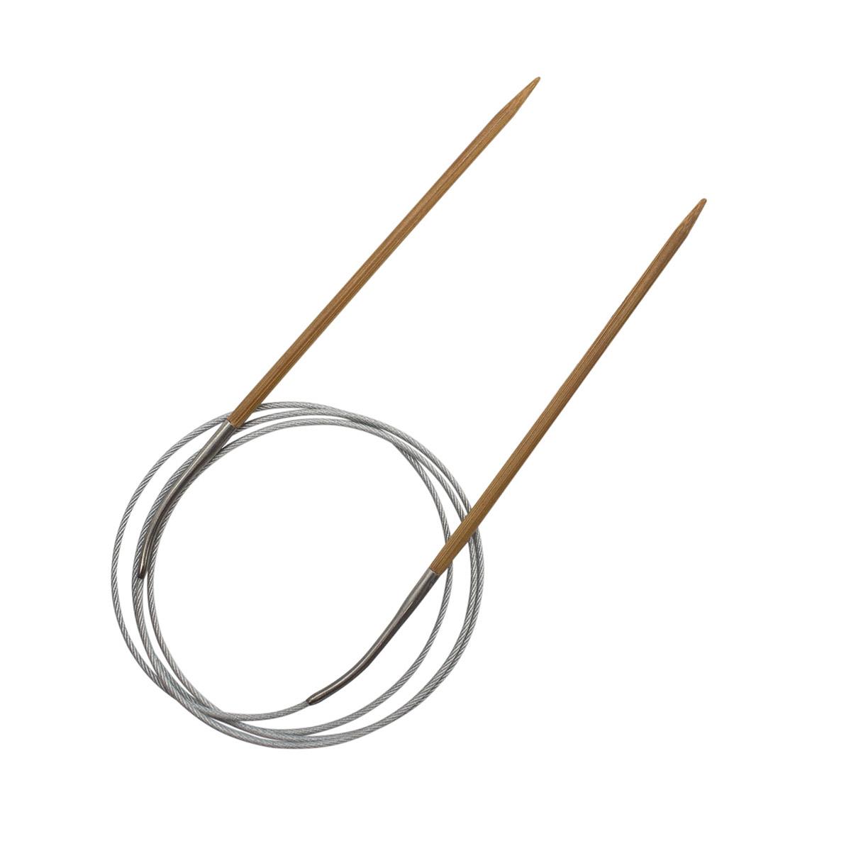 Спицы круговые бамбук с металлическим тросиком 942735, 100 см, 3,5 мм, Hobby&Pro