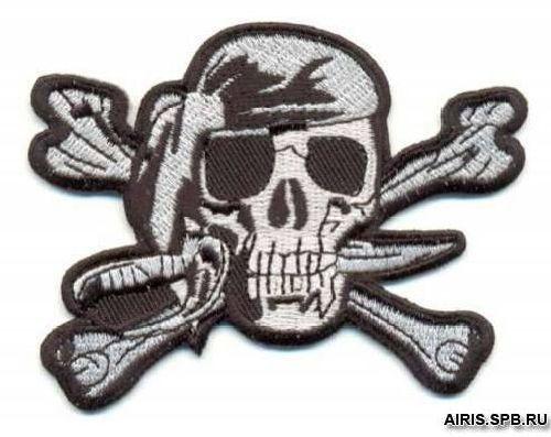 AD1226 Термоаппликация 'Череп пирата', 6*9 см, Hobby&Pro