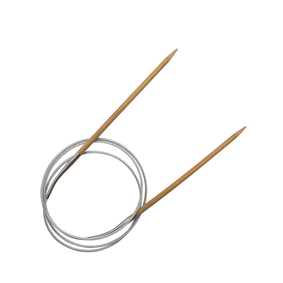 Спицы круговые бамбук с металлическим тросиком 942740, 100 см, 4,0 мм, Hobby&Pro