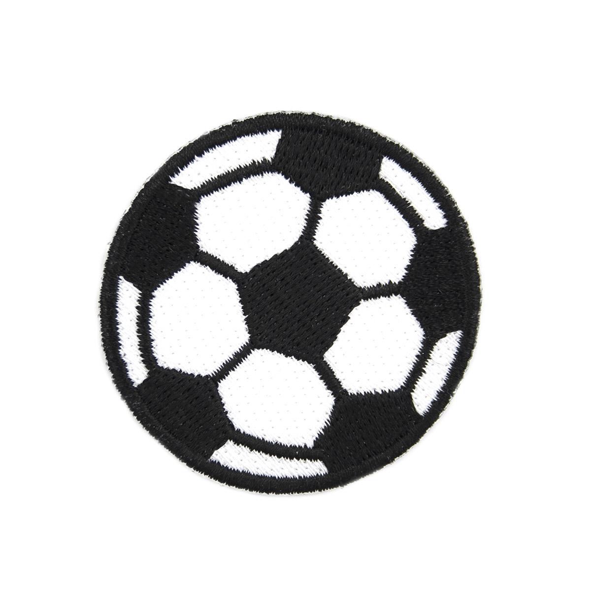 AD1230 Термоаппликация 'Футбольный мяч', d 5 см, Hobby&Pro
