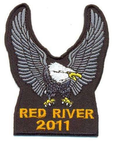 AD1235 Термоаппликация Red river (красная река), 8,5*7 см, Hobby&Pro